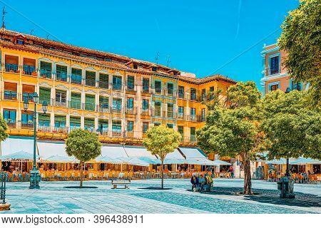 Landscape Of Town Hall Of Segovia On  Main Square (plaza Major).