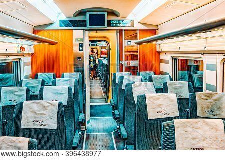 Interior Of Modern Hi-speed Passenger Train Of Spanish Railways