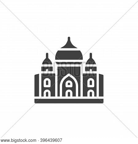 Taj Mahal Palace Vector Icon. Filled Flat Sign For Mobile Concept And Web Design. India Landmark Gly