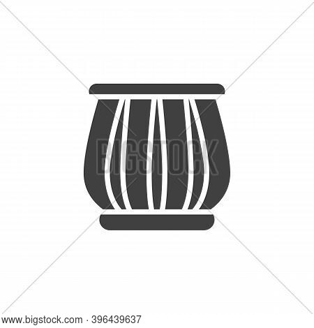 Indian Drums Tabla Vector Icon. Filled Flat Sign For Mobile Concept And Web Design. Tabla Musical In