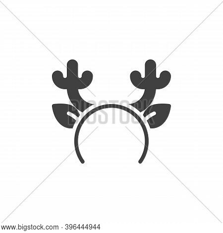 Reindeer Horns Mask Vector Icon. Filled Flat Sign For Mobile Concept And Web Design. Christmas Reind