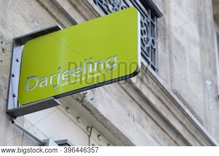 Bordeaux , Aquitaine / France - 11 21 2020 : Darjeeling Logo And Text Sign Of Store Lingerie Underwe