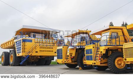 The Worlds Biggest Truck With Electric Drive System Consisting Of Four Electric Motors. Mining Two-a