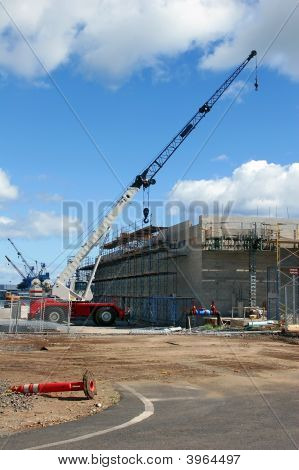 Construction Crane And Scaffolds