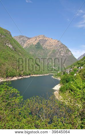 Verzasca Reservoir,Verzasca Valley,Switzerland