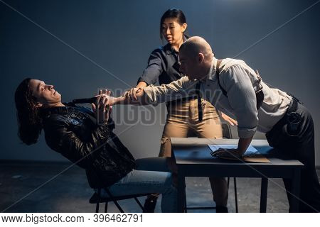 A Bad Cop Threatens A Suspect With A Gun At A Police Station In The Presence Of A Lawyer