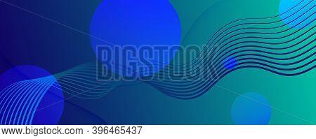 Blue Dynamic Wave. Flow 3d Motion. Curve Gradient Shape. Dynamic Wave. Graphic Pattern. Fluid Concep