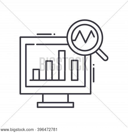 Fiscal Policy Icon, Linear Isolated Illustration, Thin Line Vector, Web Design Sign, Outline Concept