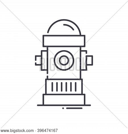 Fire Hydrant Icon, Linear Isolated Illustration, Thin Line Vector, Web Design Sign, Outline Concept