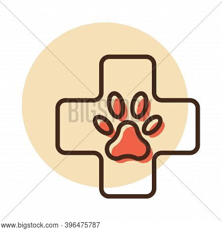 Veterinary Vector Icon. Pet Animal Sign. Graph Symbol For Pet And Veterinary Web Site And Apps Desig