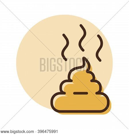 Pile Of Poo Vector Icon. Pet Animal Sign. Graph Symbol For Pet And Veterinary Web Site And Apps Desi