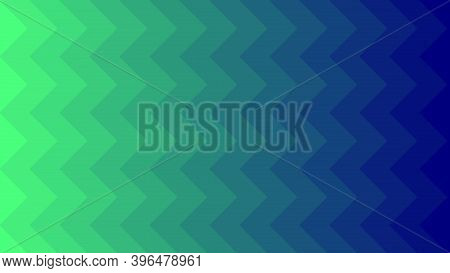 Green And Blue Vector Texture With Zigzag. Modern Abstract Illustration For Website, Poster, Banner