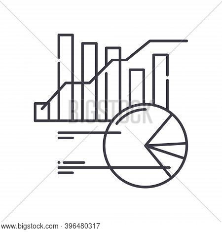 Financial Reports Icon, Linear Isolated Illustration, Thin Line Vector, Web Design Sign, Outline Con