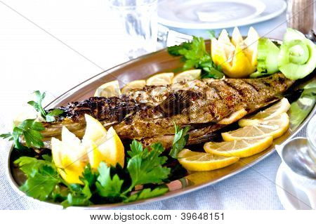 Fried Fish On A Platter