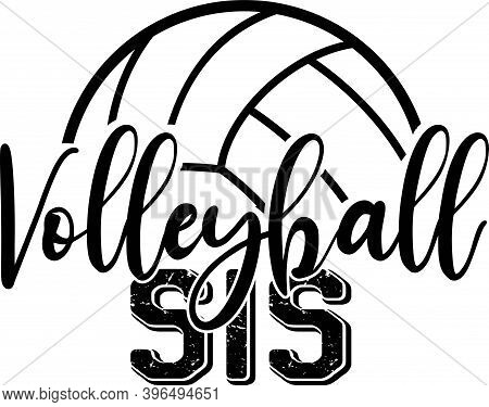 Volleyball Sis Isolated On The White Background. Vector Illustration