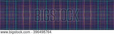 Seamless Plaid Texture. Blue Tartan Pattern. Scottish Tile. Hipster Textured Textile. Trendy Plaid T
