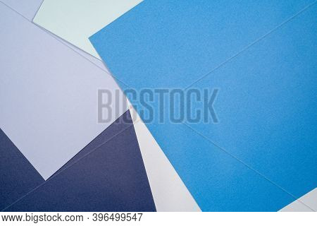 Abstract Paper Background With Blue And Cerulean Colors.