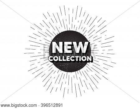 New Collection. Vintage Star Burst Banner. New Fashion Arrival Sign. Advertising Offer Symbol. Hipst