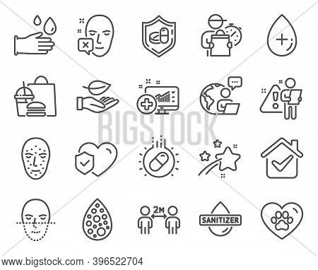 Healthcare Icons Set. Included Icon As Capsule Pill, Artificial Colors, Pets Care Signs. Medical Ana