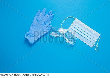 The Inscription Quarantine. The Inscription Quarantine. Blue Medical Mask.