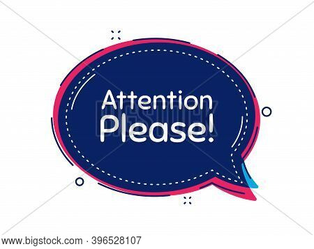 Attention Please. Thought Bubble Vector Banner. Special Offer Sign. Important Information Symbol. Di