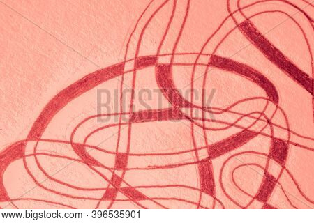 Abstract Background. Romantic Scratch Drawn. Spring Hand Draw Scrawl. Graphic Graffiti. Gradient Doo