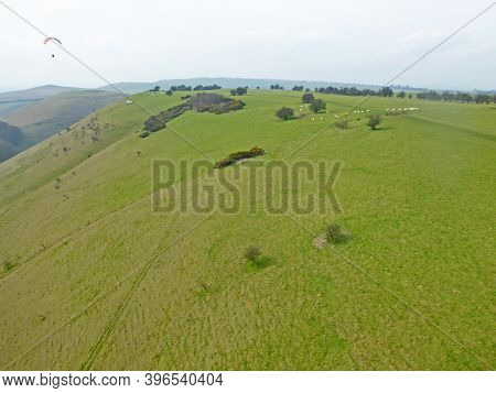 Aerial View Of The Pewsey Vale At Golden Ball