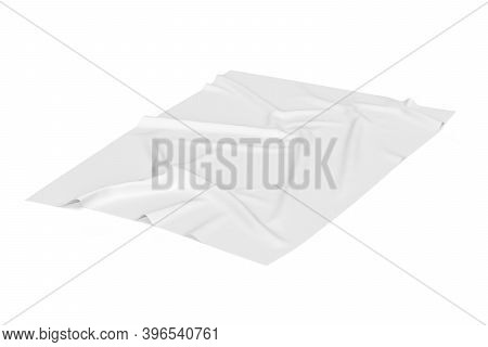 Beach Towel Mockup Isolated On White Background - 3d Render