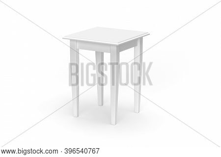 Small Table Mockup Isolated On White Background - 3d Render