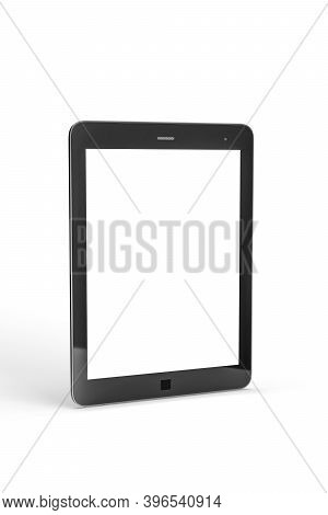 Tablet Mockup - Black Tablet Isolated On A White Background - 3d Render