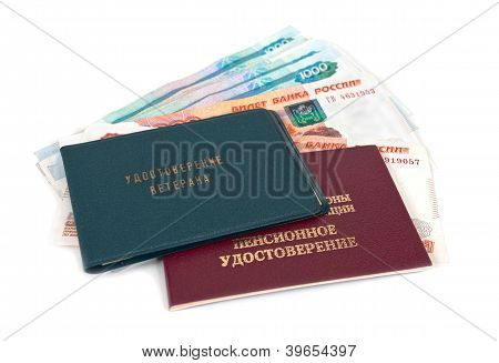 Russian Pension Certificate And Money