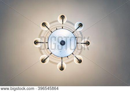 Bottom View Photo Of Round Modern Designer Chandelier