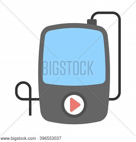 Mp3 Player Icon In Flat Style. Music Player Symbol For Perfect Web And Mobile Concept.