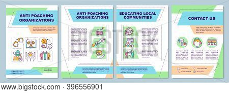 Saving Endangered Species Brochure Template. Anti-poach Organization. Flyer, Booklet, Leaflet Print,