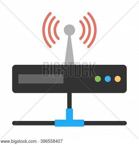 Wireless Router Icon. Modem, Switch Sign. Network, Internet Technology. Flat Icon Design For Perfect