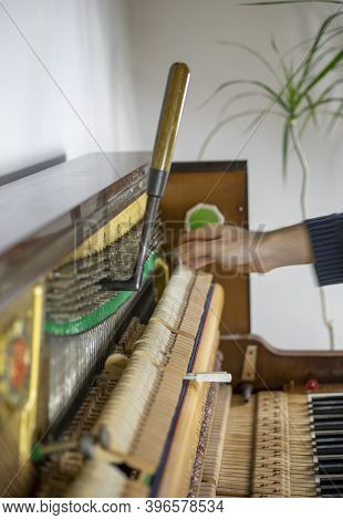Tune The Piano, Knock Out The Pegs, Listen, Tune The Piano, Tuner, Musical, Vertical,