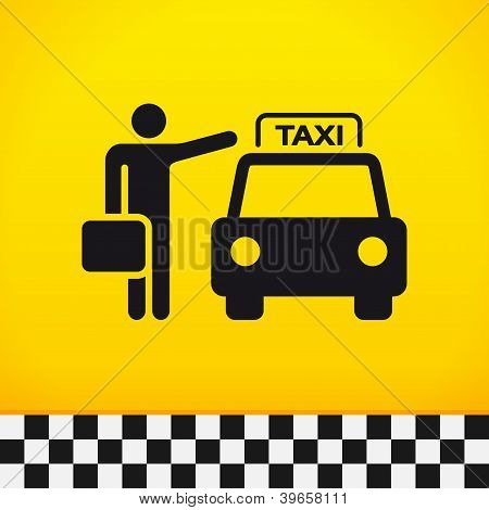 Taxi Theme with Passenger