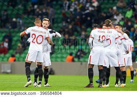 Krasnodar, Russia - November 24, 2020: Ivan Rakitic Of Sevilla Fc Before The Uefa Champions League G