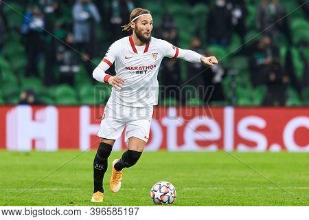 Krasnodar, Russia - November 24, 2020: Nemanja Gudelj Of Sevilla Fc In Action During The Uefa Champi
