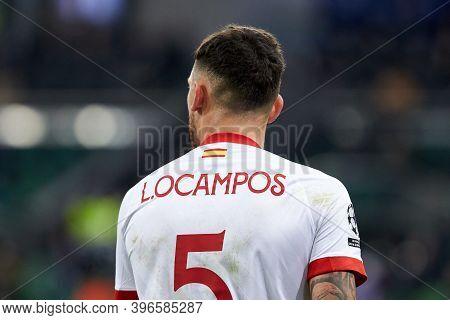 Krasnodar, Russia - November 24, 2020: Lucas Ocampos Of Sevilla Fc During The Uefa Champions League