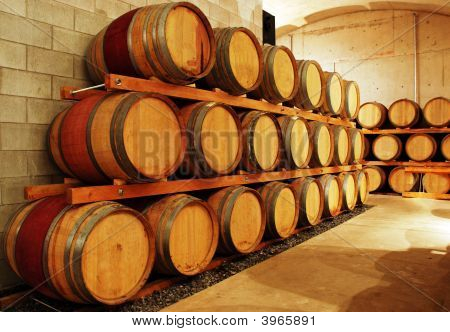 Wine Barrel Storage Area