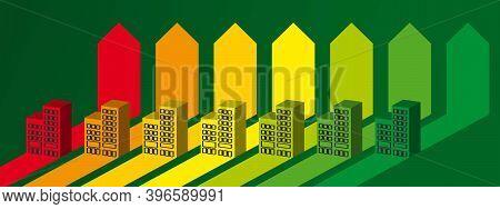 Blocks  On The Energy Chart. Energy Efficiency Concept