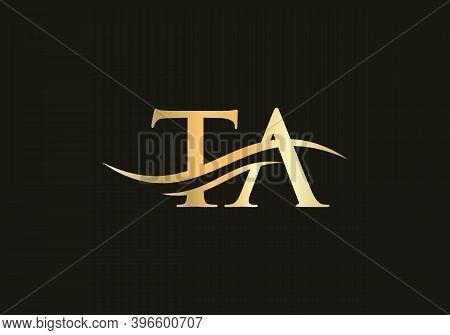 Ta Logo Design. Ta Modern Creative Unique Elegant Minimal. T A Initial Based Letter Icon Logo.