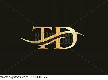 Premium Vector Td Logo. Beautiful Logotype For Luxury Branding. T D Elegant And Stylish Logo Design