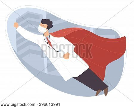 Heroic And Brave Doctor, Superman Medical Worker