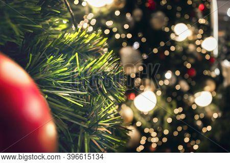 Christmas Concept: Abstract Christmas Lights On Background