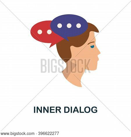 Inner Dialog Icon. Simple Element From Personality Collection. Creative Inner Dialog Icon For Web De
