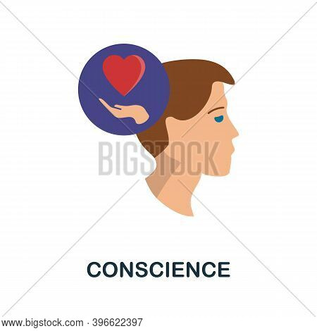 Conscience Icon. Simple Element From Personality Collection. Creative Conscience Icon For Web Design