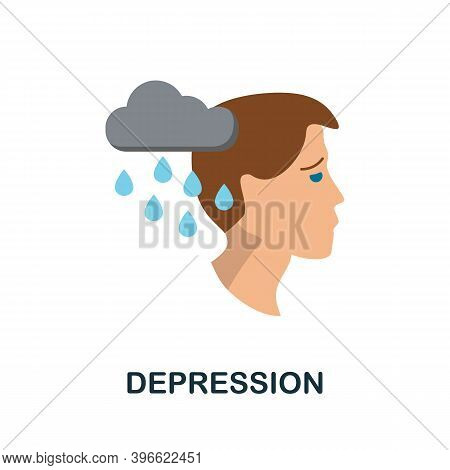 Depression Icon. Simple Element From Personality Collection. Creative Depression Icon For Web Design