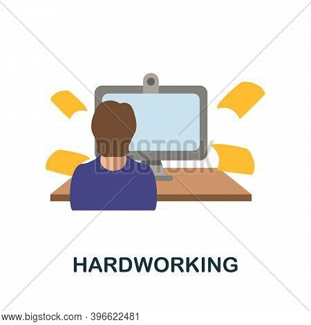 Hardworking Icon. Simple Element From Personality Collection. Creative Hardworking Icon For Web Desi